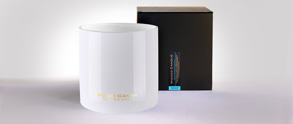 Wick Jumbo Jar (White) - European Summer