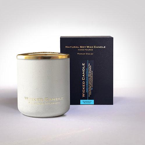 Large Concrete Jar (White) - European Summer