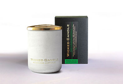 Wicked Candle_Small Concrete White Jar_G