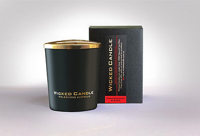 Wicked Candle_Small Black Jar_Pommegrana