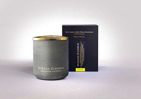 Wicked Candle_Large Grey Jar_Concrete_Au