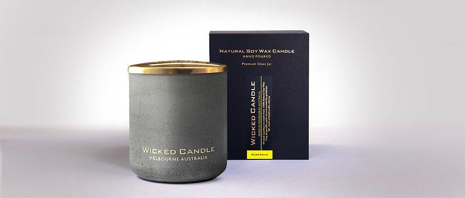 Large Concrete Jar (Grey) - Australia