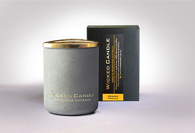 Wicked Candle_Small Concrete Grey Jar_Or