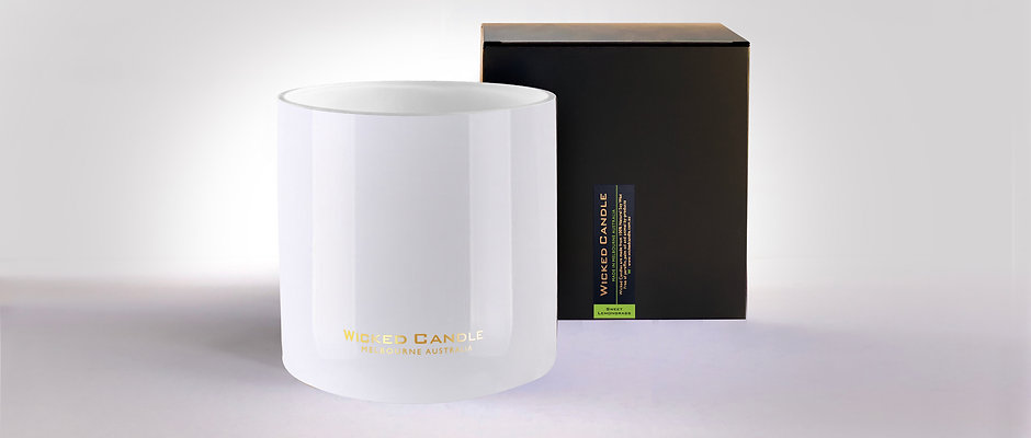 Wick Jumbo Jar (White) - Sweet Lemongrass