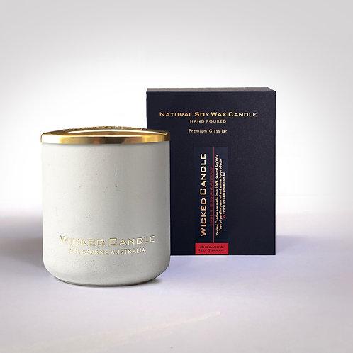 Large Concrete Jar (White) - Rhubarb