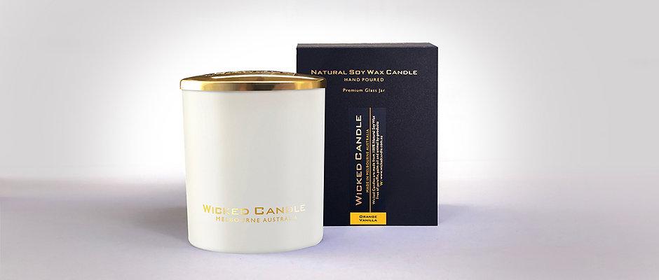 Large Glass Jar (White) - Orange Vanilla