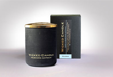 Wicked Candle_Small Concrete Black Jar_C