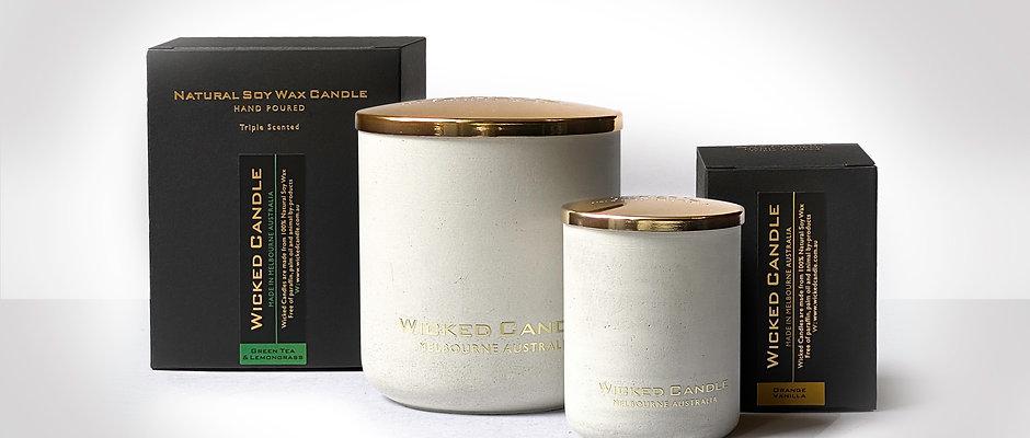 Concrete Jar Set (White)