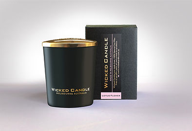 Wicked Candle_Small Black Jar_Lotus Flow