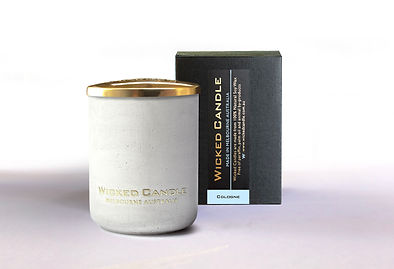 Wicked Candle_Small Concrete White Jar_C