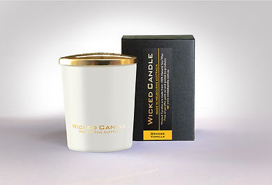 Wicked Candle_Small White Jar_Orange Van