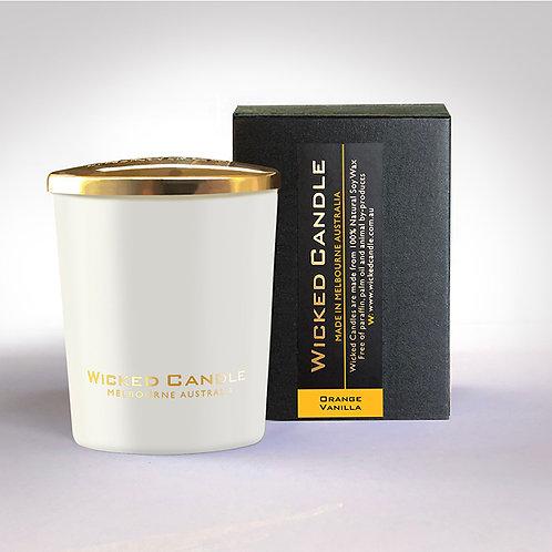 Small Glass Jar (White) - Orange Vanilla