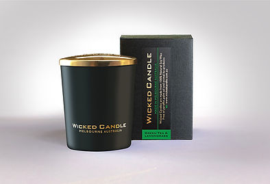 Wicked Candle_Small Black Jar_Greentea &