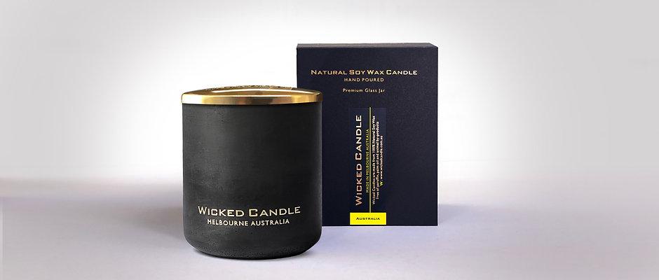 Large Concrete Jar (Black) - Australia