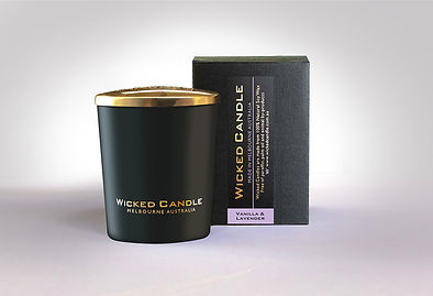 Wicked Candle_Small Black Jar_Vanilla La