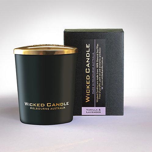 Small Glass Jar (Black) - Vanilla Lavender