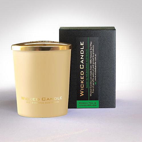 Small Glass Jar (Cream) - Greentea & Lemongrass