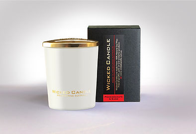 Wicked Candle_Small White Jar_Pommegrana