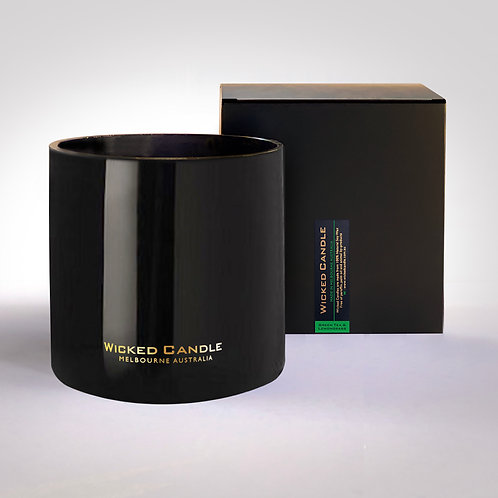 4 Wick Jumbo Jar (Black) - Greentea & Lemongrass