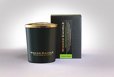 Wicked Candle_Small Black Jar_French Pea