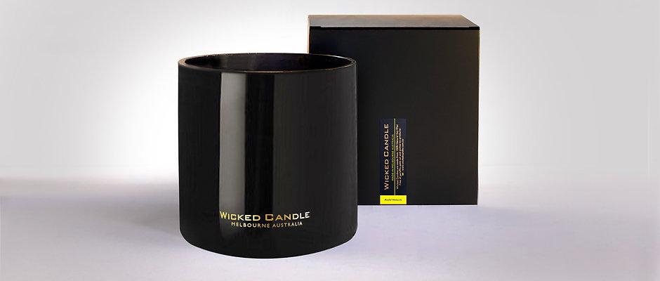 4 Wick Jumbo Jar (Black) - Australia