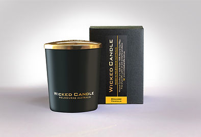 Wicked Candle_Small Black Jar_Orange Van