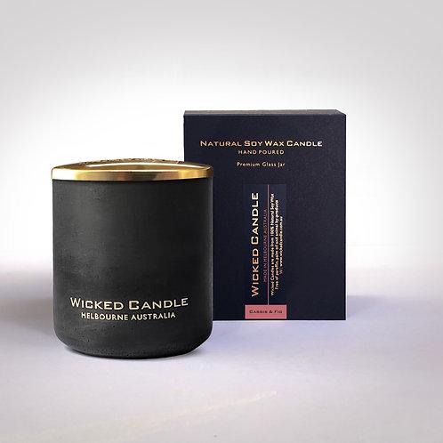 Large Concrete Jar (Black) - Cassis & Fig