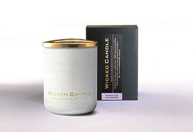Wicked Candle_Small Concrete White Jar_V