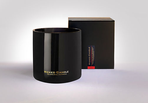 Wicked Candle_4 Wick Large Black Jar_Pom