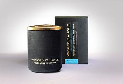 Wicked Candle_Small Concrete Black Jar_E
