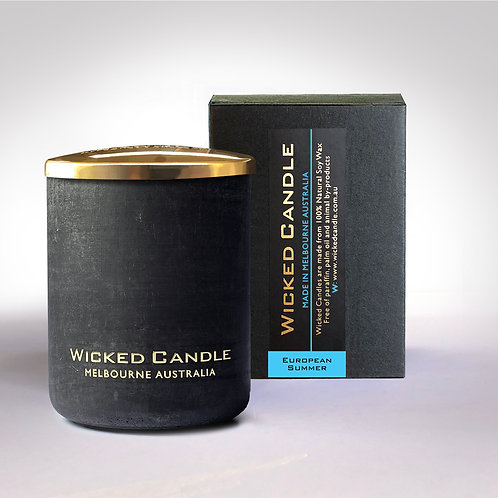 Small Concrete Jar (Black) - European Summer