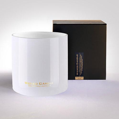 4 Wick Jumbo Jar (White) - Sandalwood & Lime