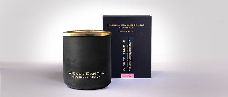 Large Concrete Jar (Black) - Rose & Greentea