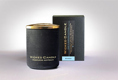 Wicked Candle_Small Concrete Black Jar_B