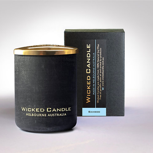 Small Concrete Jar (Black) - Bamboo