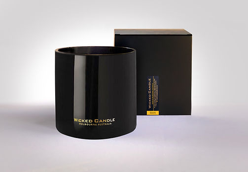 Wicked Candle_4 Wick Large Black Jar_Ora
