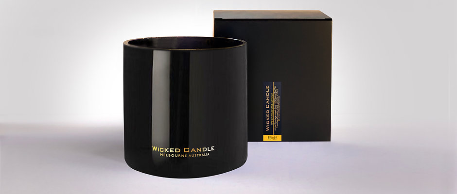 4 Wick Jumbo Jar (Black) - Orange Vanilla