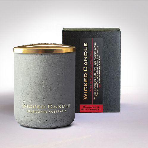 Small Concrete Jar (Grey) - Rhubarb & Red Currant