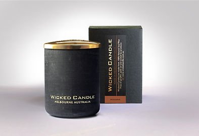 Wicked Candle_Small Concrete Black Jar_H