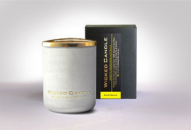 Wicked Candle_Small Concrete White Jar_A