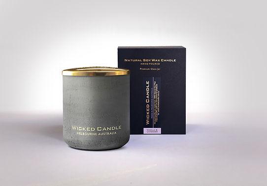 Wicked Candle_Large Grey Jar_Concrete_Va