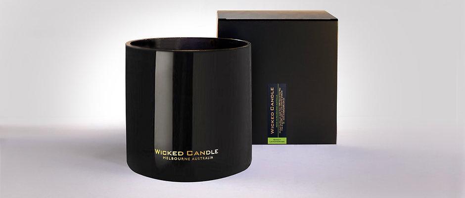 4 Wick Jumbo Jar (Black) - Sweet Lemongrass