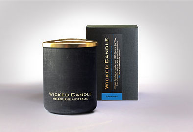 Wicked Candle_Small Concrete Black Jar_P