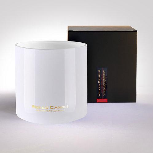 4 Wick Jumbo Jar (White) - Rhubarb & Red Currant
