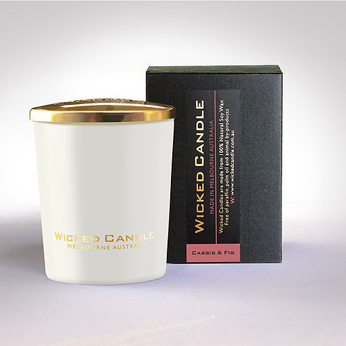 Small Glass Jar (White) - Cassis & Fig