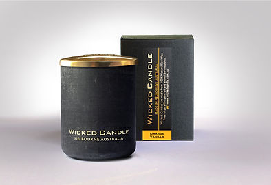 Wicked Candle_Small Concrete Black Jar_O