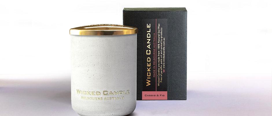 Small Concrete Jar (White) - Cassis & Fig