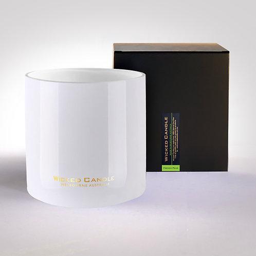 4 Wick Jumbo Jar (White) - French Pear