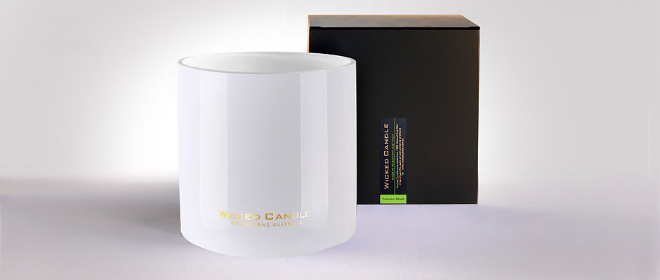 4 Wick Jumbo Jar (White) - French Pear