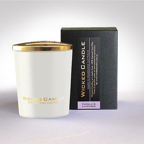 Small Glass Jar (White) - Vanilla Lavender
